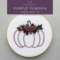 Purple Pumpkin Embroidery Kit | And Other Adventures Embroidery Co