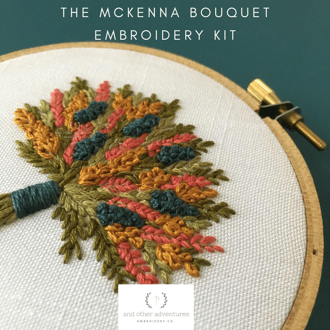 Hand Embroidery Kit - The McKenna Bouquet - Fall Florals by And Other Adventures Embroidery Co