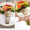 Rustic Sunflower and Rose Wedding Bouquet Hand Embroidered Hoop Art | And Other Adventures Embroidery Co