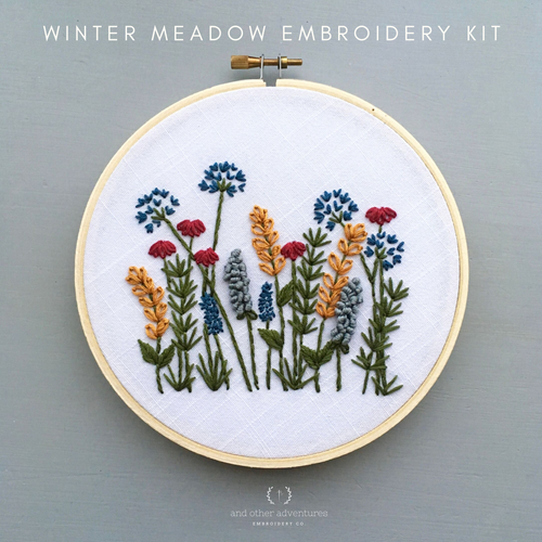Beginner Hand Embroidery KIT - Winter Meadow by And Other Adventures Embroidery Co
