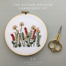 Beginner Hand Embroidery KIT - Autumn Meadow by And Other Adventures Embroidery Co