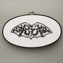 Halloween bat embroidery