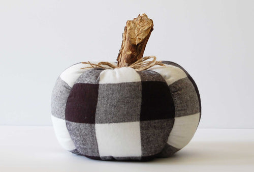 buffalo plaid pumpkin by And Other Adventures Embroidery Co