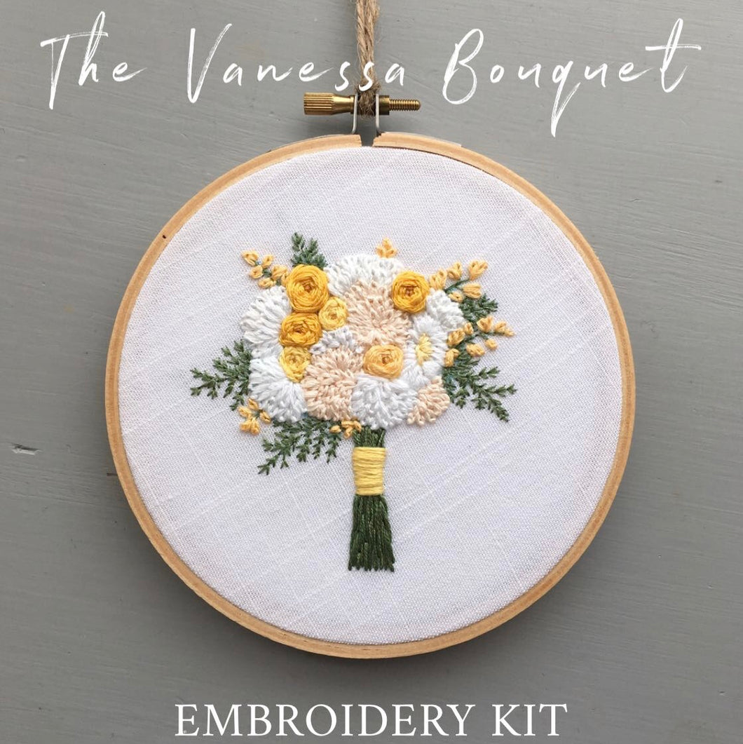 The Vanessa Bouquet Embroidery Kit | The Bloom Collection