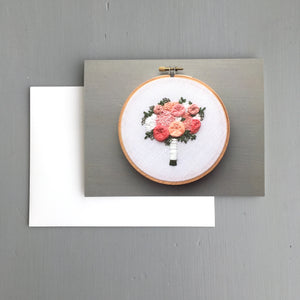 Embroidered Brooke Bouquet Greeting Card