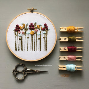 Autumn Wildflowers Hand Embroidery Pattern by And Other Adventures Embroidery Co