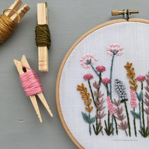 pastel wildflowers embroidery by And Other Adventures Embroidery Co