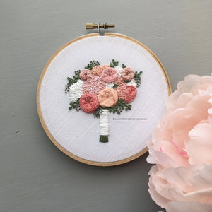 The Brooke Bouquet Hand Embroidery Pattern by And Other Adventures