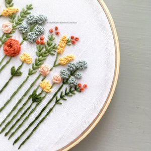 Modern Floral Hand Embroidery KIT by And Other Adventures Embroidery Co