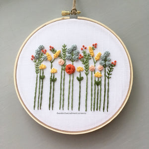 Embroidered Wildflower Hand Embroidery KIT by And Other Adventures Embroidery Co