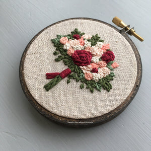 Embroidered Red Valentine's Bouquet by And Other Adventures Embroidery Co