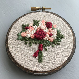 Romantic Bouquet Embroidery by And Other Adventures Embroidery Co