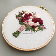 Burgundy and Mauve Floral Bouquet Embroidery by And Other Adventures Embroidery Co