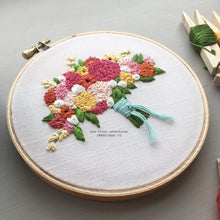 colorful floral hand embroidery by And Other Adventures Embroidery Co