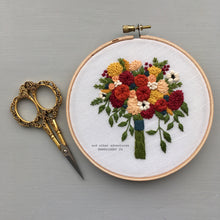 Fall Flower Bouquet Embroidery by And Other Adventures Embroidery Co