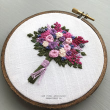 Purple and Pink Bouquet Embroidery by And Other Adventures Embroidery Co