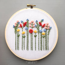 Bright Spring Wildflowers Embroidery Hoop Art by And Other Adventures Embroidery Co