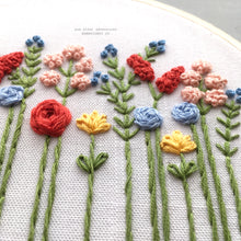 Hand Stitched Florals by And Other Adventures Embroidery Co