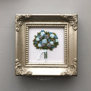 Framed Flower Bouquet Embroidery by And Other Adventures Embroidery Co