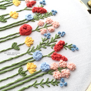Embroidered Wildflowers Hoop Art by And Other Adventures Embroidery Co