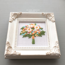 Framed Floral Embroidery Art