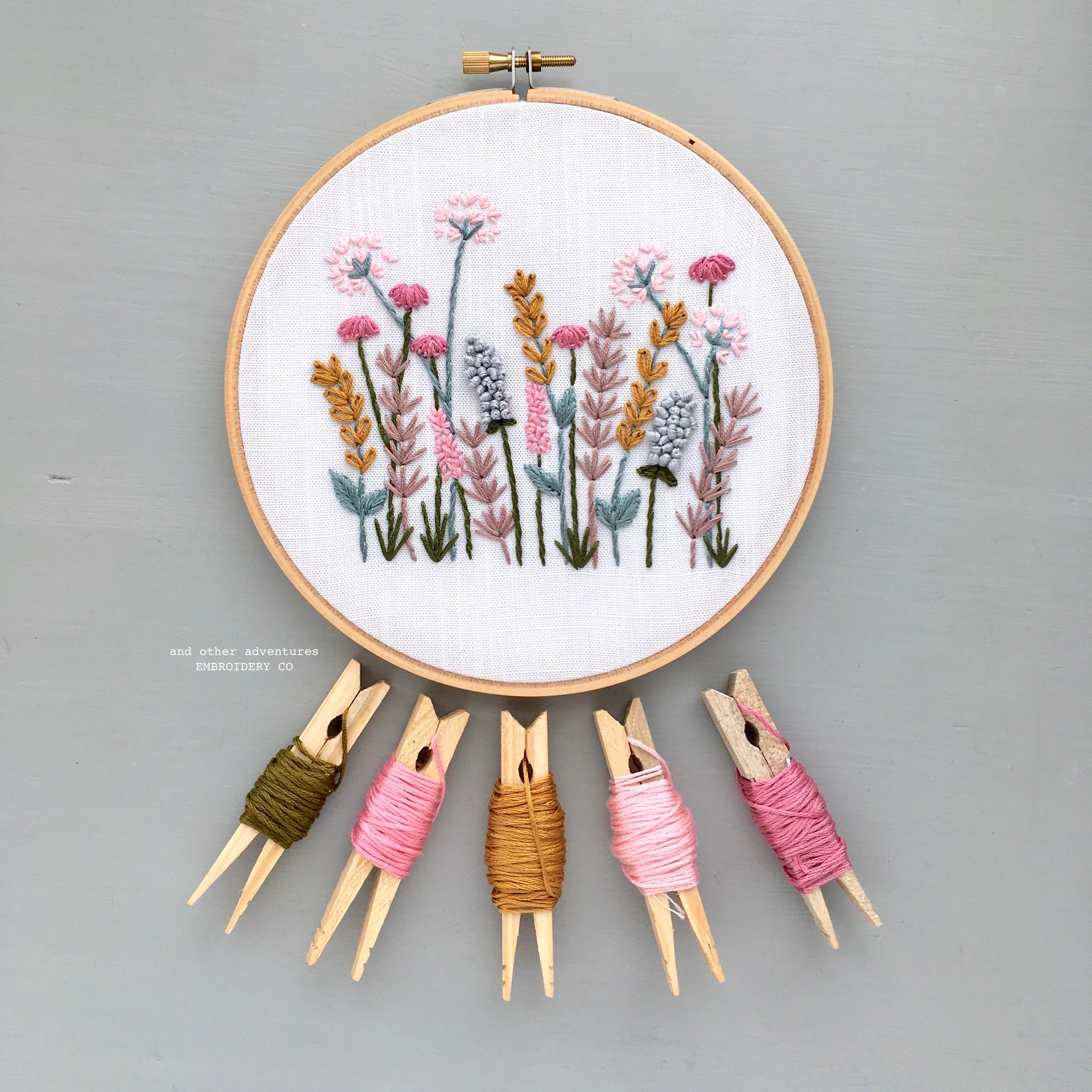 Hand Embroidery Kit - Spring Meadow