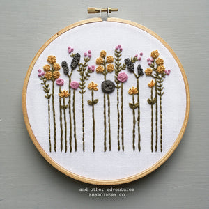 Floral Hand Embroidery Kit by And Other Adventures Embroidery Co