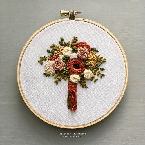 Hand Embroidery Fall Flower Bouquet by And Other Adventures Embroidery Co