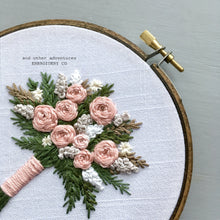 Hand Stitched Champagne Pink Bouquet by And Other Adventures Embroidery Co