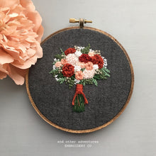 Hand Embroidered Fall Bouquet Art by And Other Adventures Embroidery Co