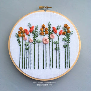 Hand Embroidered Wildflower Hoop Art - And Other Adventures Embroidery Co
