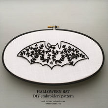 Halloween Bat DIY embroidery pattern by And Other Adventures Embroidery Co