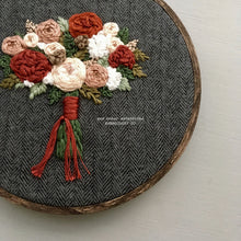 Hand stitched Flower Hoop Art made by And Other Adventures Embroidery Co