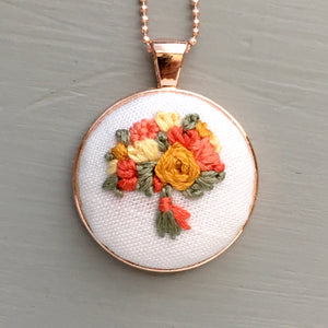 floral necklace embroidery