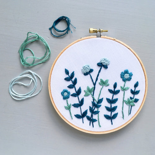 Ocean Blues Embroidery Hoop