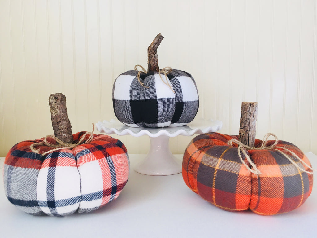 Fabric Pumpkin Decor