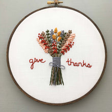 Give Thanks - DIY Thanksgiving Embroidery Hoop - And Other Adventures Co