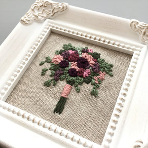 Romantic Framed Floral Embroidery
