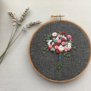 Farmers Market Embroidered Bouquet No. 28