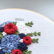 The Americana Bouquet Hand Embroidery Pattern