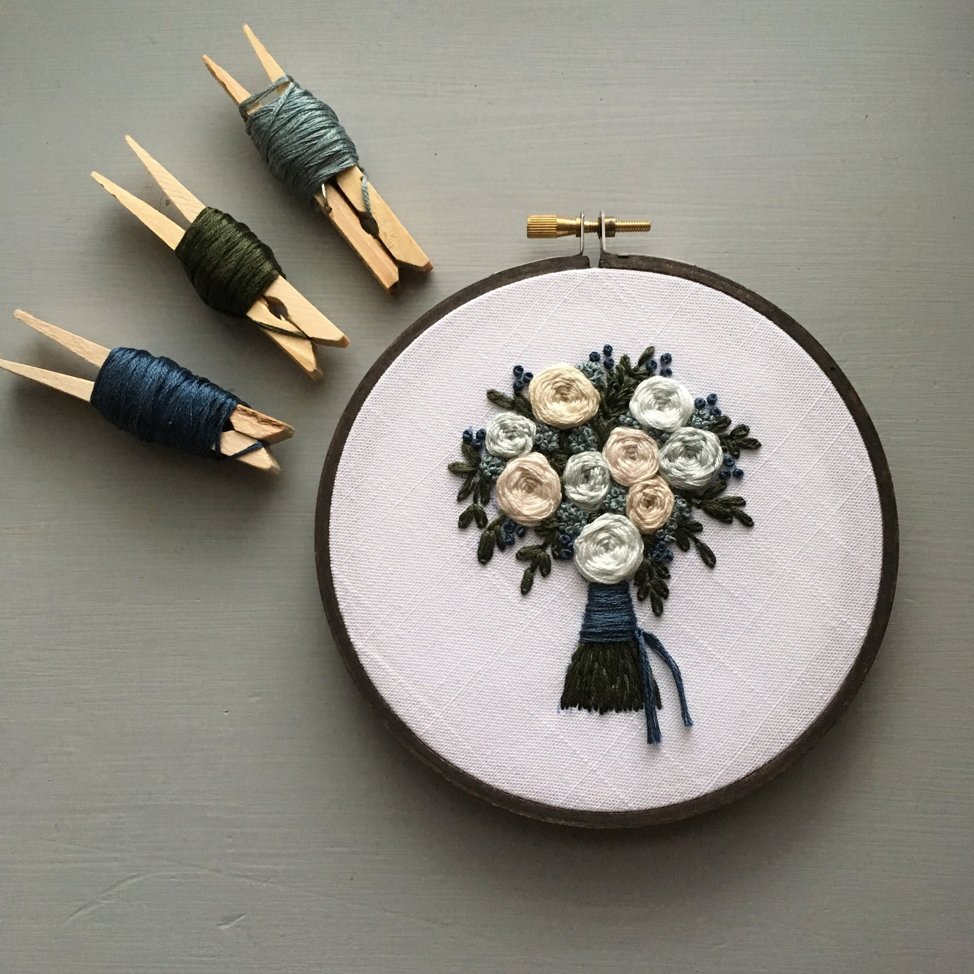 The Bloom Collection - The Harlow Bouquet Hand Embroidery Pattern