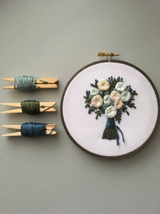 "The Bloom Collection - The ""Harlow"" Bouquet Embroidery Pattern"