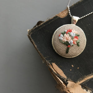 Necklace Bouquet Embroidery