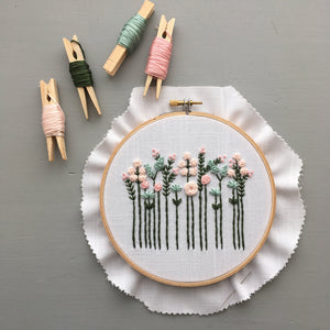 Wildflower Embroidery Kit - Pastels