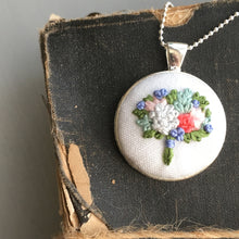 embroidered flower necklace