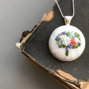 hand embroidered flowers