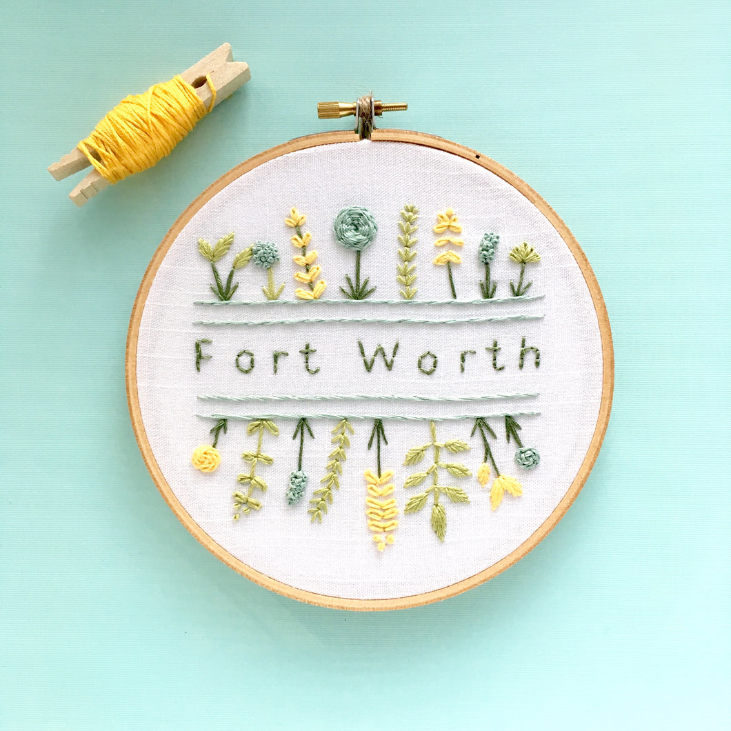 Fort Worth embroidery art