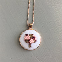 Hand Embroidered Necklace Pendant
