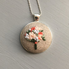 coral and peach necklace