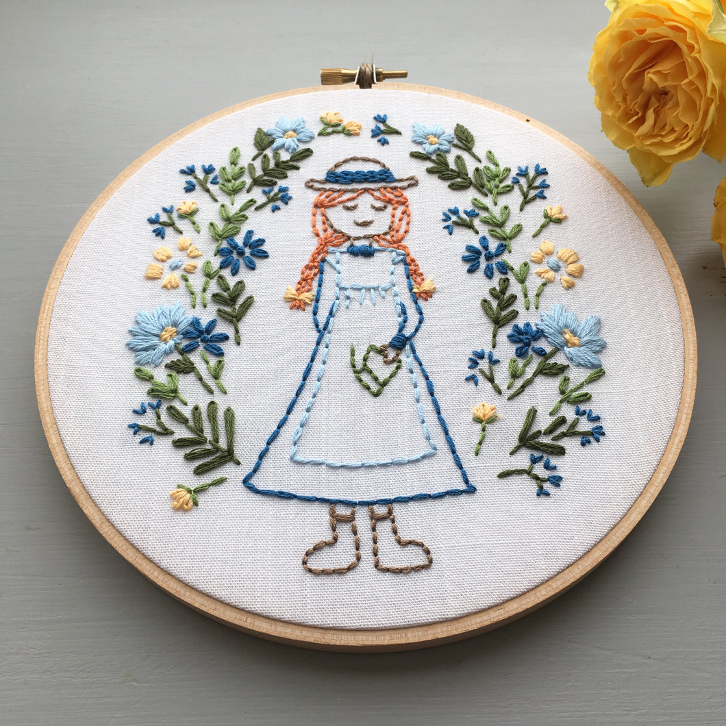 Hand Embroidery Pattern - Anne of Green Gables